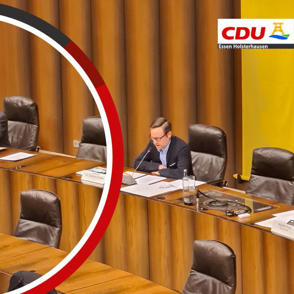 Vorsitzender Andreas Kalipke im Ausschuss Schule